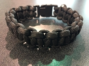 Night Op's Black Paracord Survival Bracelet