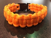 Sunburst Orange Survival Paracord Bracelet