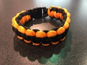 Sunburst Orange/Black Survival Bracelet